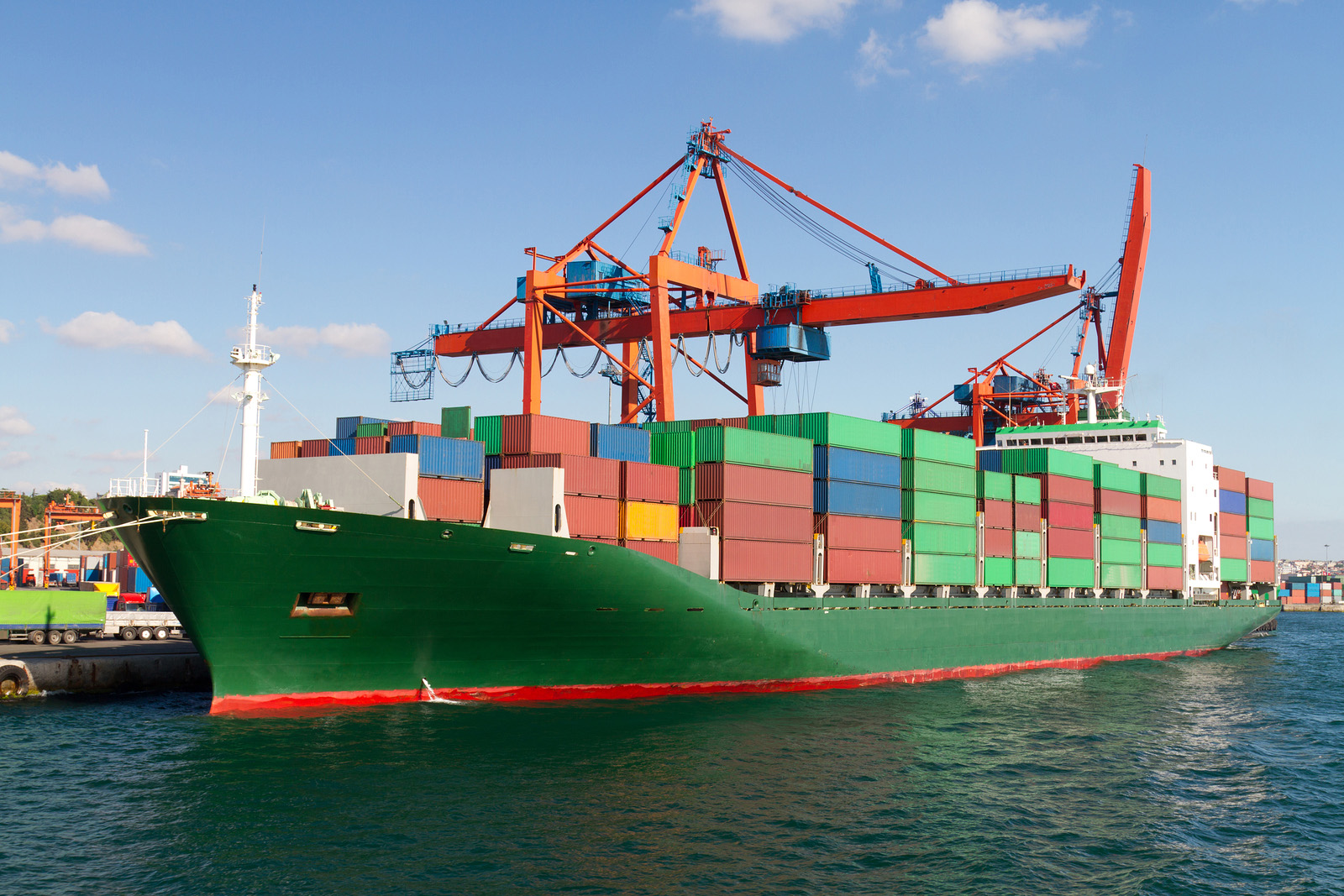 Ship loaded with containers
